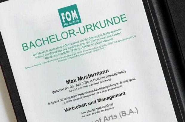Bachelor-Urkunde