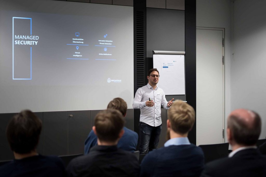 Securious Pitch bei unserem Cybersecurity Founder Meetup